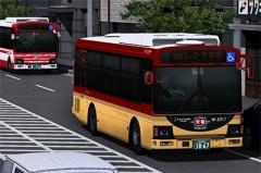 京阪バス ステーションループバス<京阪特急色>&京阪京都交通 レインボーⅡタイプ